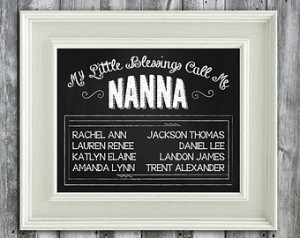 ... Chalkboard Art - Mothers Day Gift - Grandma Day Gift - Mothers Day