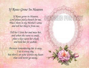 Mom In Heaven Quotes Printable mother memorial