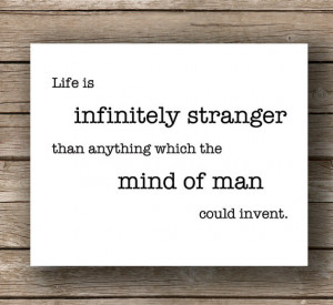 Sherlock Holmes: Infinitely Stranger, Typography Wall Art , Quote ...