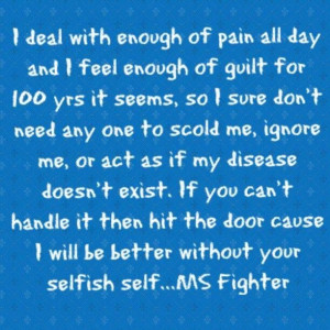 pain, guilt MS fighter