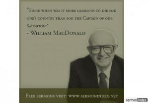 William MacDonald Quote