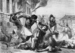 Civil war erupts in the French colony of St. Domingue, a Caribbean ...