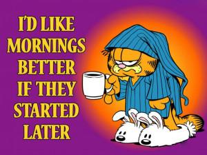 Garfield Mornings Slogan Wallpaper 1024×768