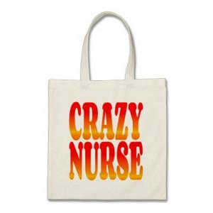 Crazy Nurse in Fiery Colors Canvas Bags