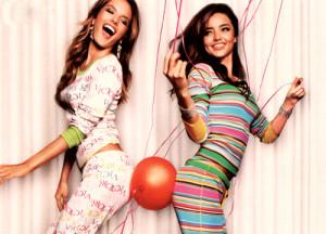 victoria, secret, girls, sexy, pijamas