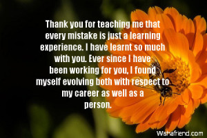 Great Boss Quotes Thank you notes for boss