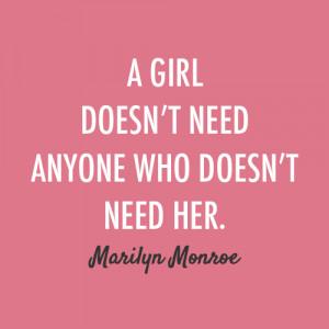 Marilyn Monroe Quote (About alone, boyfriend, break up, breakups ...