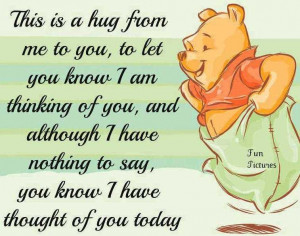 This is a hug from me to you, to let you know i am thinking of you