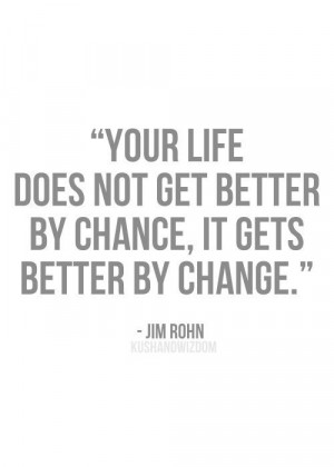John Rohn quote - Choose to change, it's always possible.