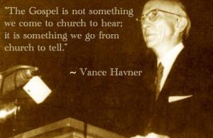 Dr. Vance Havner, a North Carolina born, Baptist Preacher whose ...