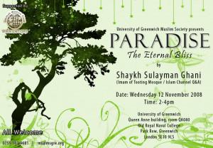 Thread: Paradise the eternal bliss - Shaykh Sulayman Ghani - 12 Nov ...