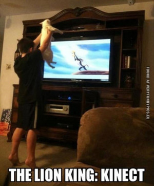 Funny Picture - Lion king: Kinect