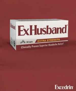 excedrin exhusband print ad created ad agency ideas4cheap.com toronto ...