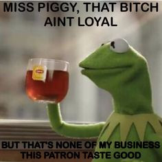 ... MsPiggy hilarious but that's none of my business Kermit #Kermit More