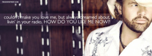 Toby Keith How Do You Like Me Now Lyrics Quote