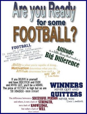 ... football, sports, vince lombardi, lou holtz, quotes inspirational high