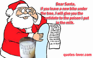 ... Quotes , Funny Picture Quotes , Funny Xmas card Picture Quotes , santa