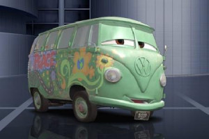 Fillmore The Hippie Vw Bus From Pixars Cars Movie Wallpaper Click ...