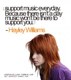 Support music everyday quote