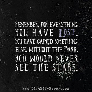 quotes about life but without the dark wed never see the stars quotes