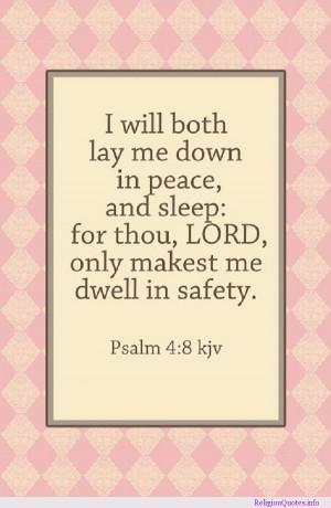 Bedtime prayer and psalm.