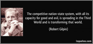 The competitive nation-state system, with all its capacity for good ...