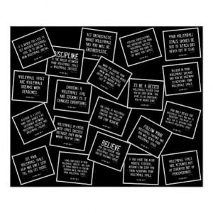 Motivational Volleyball Print Black And White From Zazzle