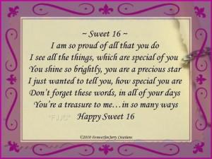 Happy Sweet 16 Birthday Quotes