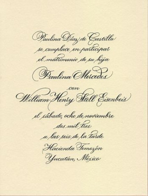 The wedding invitation should always contain the basic and pertinent ...