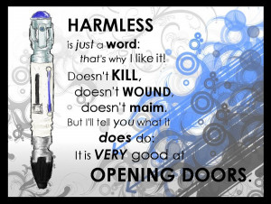 Sonic Screw Driver tenth doctor quote