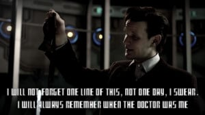 Matt Smith Quotes Bow Ties Matt smith 11th doctor final scene quote ...