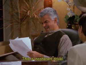 Seinfeld - incoherent drivel: George, Amusement, Elaine Work, Seinfeld ...