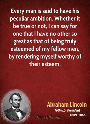 Every man is said to have his peculiar ambition. Whether it be true or ...