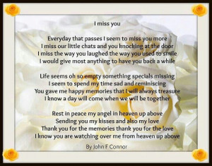 Missing loved ones in heaven
