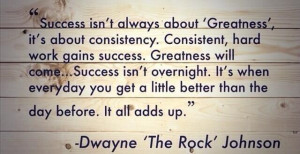Success is about consistency.