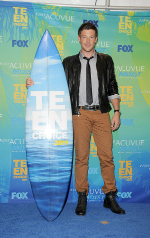 Cory Monteith Pictures and Quotes From Teen Choice Awards