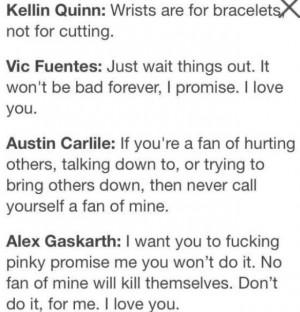 Vic Fuentes Self Harm Quotes