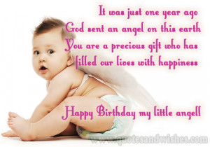 ... and images for cute little angels, Birthday wishes for one year old