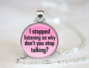 ... Quote, Pink Rude Comment Jewellery Necklace, Sarcasm Quote Present