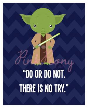 STAR WARS Yoda Inspired 8x10 print quote Nursery decor, Wall art, Kids ...