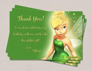 Tinkerbell Birthday Thank You Card
