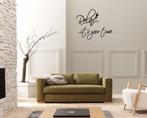 ... -Your-Time-Bathroom-Vinyl-Wall-Art-Stickers-Wall-Decal-Wall-Quote-Art
