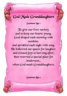 Poem to Granddaughter More