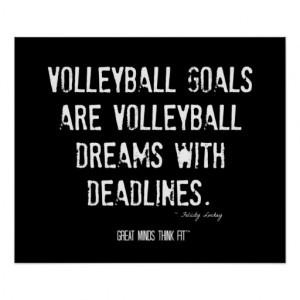 Volleyball Motivational Poster 005 - Grunge