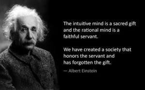 Great quotes sayings intuitive mind albert einstein
