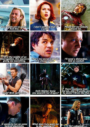 IamKyon The Avengers Quotes