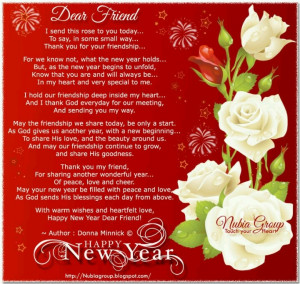 Dear Friend...Happy New Year!