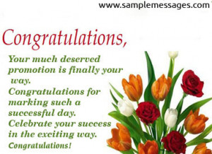 Job Promotion Congratulations Quotes http://www.samplemessages.com ...