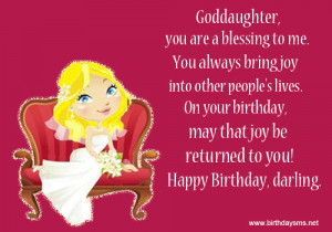 Happy Birthday To My Goddaughter Quotes