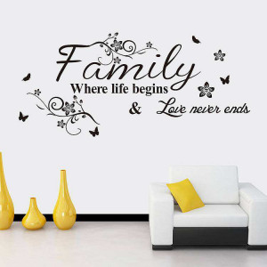 Family wall stickers quotes